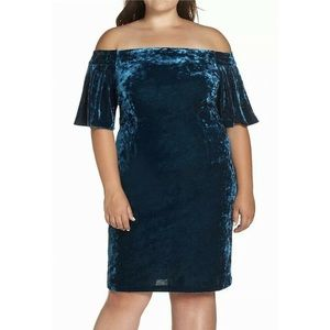 Eliza J Velvet Off The Shoulder Dress Sz 18W NWT